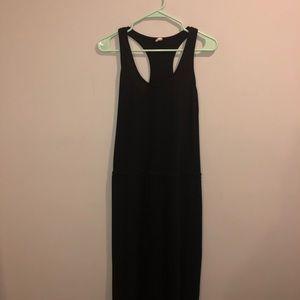 "Lanston Black Maxi Dress Summertime 57"" Long"